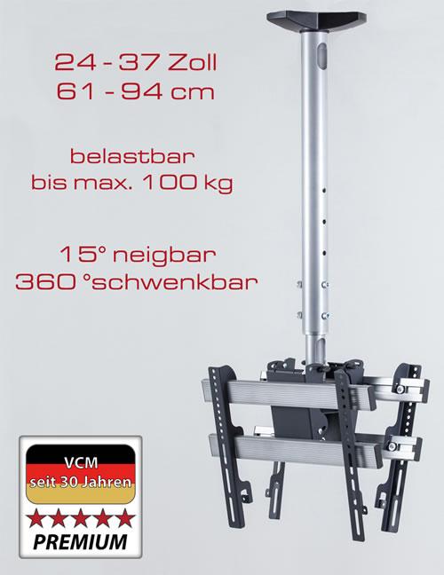 """VCM Deckenhalterung """"TDH 3 DOUBLE"""" (Hifi- und TV-Moebel)"""